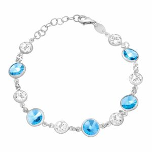 Bracelet with Blue & White Swarovski