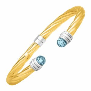 Sky Blue Topaz Bangle Bracelet