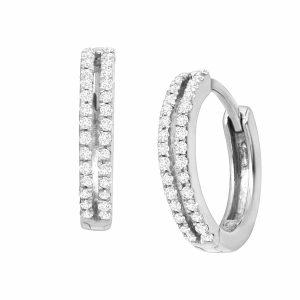 1/4 ct Diamond Huggie Hoop Earrings