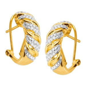 1/4 ct Diamond C-Hoop Earrings