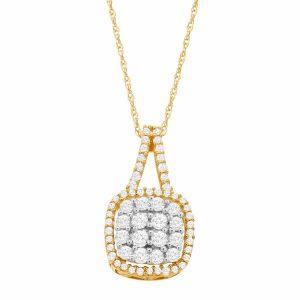 1/2 ct Diamond Cushion Pendant